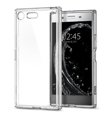 SONY XPERIA XZ PREMIUM AIR CUSHION HYBRID CASE CRYSTAL CLEAR | SPIGEN