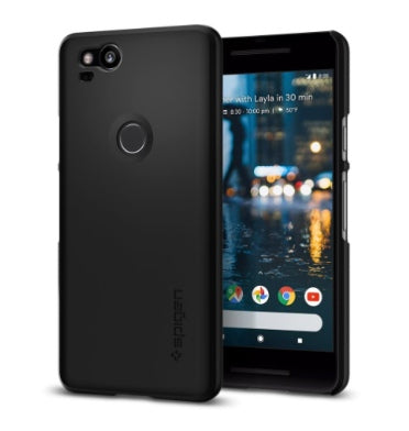 GOOGLE PIXEL 2 PREMIUM SLIM THIN FIT CASE BLACK | SPIGEN