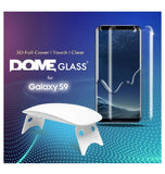 SAMSUNG GALAXY S9 TEMPERED SCREEN PROTECTOR 3D CURVED DOME GLASS | WHITESTONE