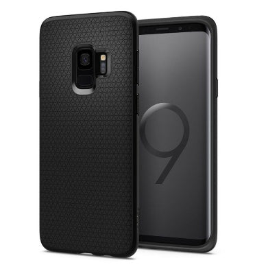 SAMSUNG GALAXY S9+ PREMIUM SLIM LIQUID AIR ARMOR CASE BLACK | SPIGEN