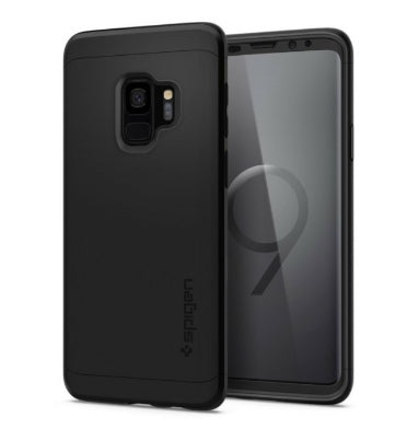 SAMSUNG GALAXY S9 PREMIUM THIN FIT 360 CASE WITH TEMPERED GLASS PROTECTOR BLACK | SPIGEN