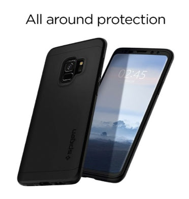 detailed look 7dcc3 15b55 SAMSUNG GALAXY S9 PREMIUM THIN FIT 360 CASE WITH TEMPERED GLASS PROTECTOR  BLACK | SPIGEN