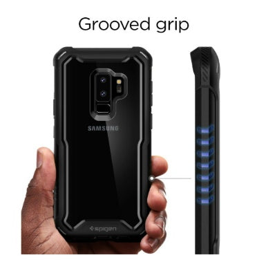 low priced cd352 1e5b2 SAMSUNG GALAXY S9+ PREMIUM HYBRID ARMOR 360 CASE WITH TEMPERED GLASS  PROTECTOR BLACK | SPIGEN
