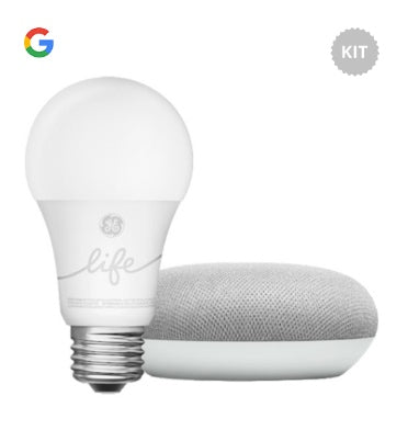 GOOGLE HOME MINI SMART LIGHT STARTER KIT CHALK