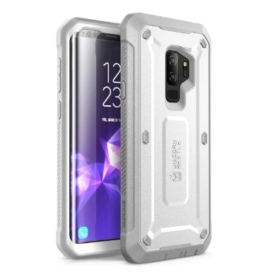 SAMSUNG GALAXY S9+ FULL BODY RUGGED PROTECTIVE CASE WITH SCREEN PROTECTOR WHITE | SUPCASE