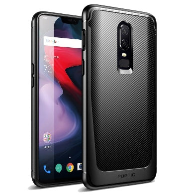 ONEPLUS 6 PREMIUM SLIM FIT KARBON SHIELD CASE BLACK | POETIC