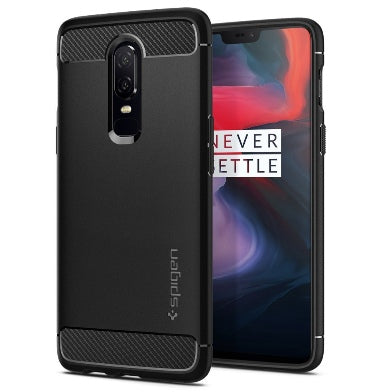 ONEPLUS 6 PREMIUM RUGGED ARMOR CASE BLACK | SPIGEN