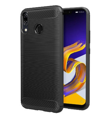 ASUS ZENFONE 5Z SLIM FIT CARBON FIVER DESIGN CASE BLACK | MOKO