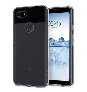 GOOGLE PIXEL 3 PREMIUM SLIM LIQUID CRYSTAL CASE CLEAR | SPIGEN