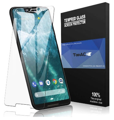 GOOGLE PIXEL 3 XL PREMIUM TEMPERED GLASS SCREEN PROTECTOR 9H 2PK | TOPACE
