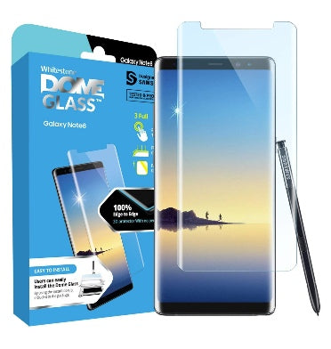 SAMSUNG GALAXY NOTE 8 TEMPERED SCREEN PROTECTOR DOME GLASS REPLACEMENT KIT | WHITESTONE