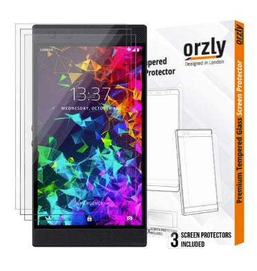 RAZER PHONE 2 PREMIUM TEMPERED GLASS SCREEN PROTECTOR 9H 3PK | ORZLY