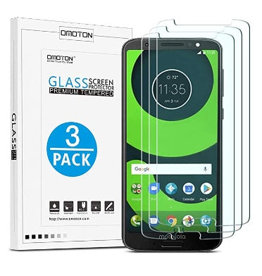 MOTO G6 PLUS PREMIUM TEMPERED GLASS SCREEN PROTECTOR 9H 3PK | OMOTION