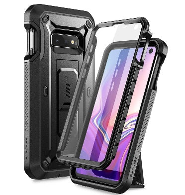 SAMSUNG GALAXY S10E FULL BODY RUGGED PROTECTIVE CASE WITH SCREEN PROTECTOR BLACK | SUPCASE