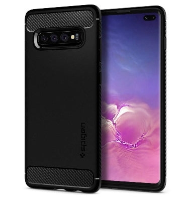 SAMSUNG GALAXY S10+ PREMIUM RUGGED CASE BLACK | SPIGEN