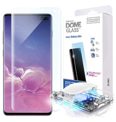 SAMSUNG GALAXY S10+ TEMPERED SCREEN PROTECTOR 3D CURVED DOME GLASS | WHITESTONE