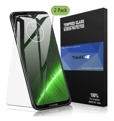 MOTO G7 PREMIUM TEMPERED GLASS SCREEN PROTECTOR 9H 2PK | TOPACE