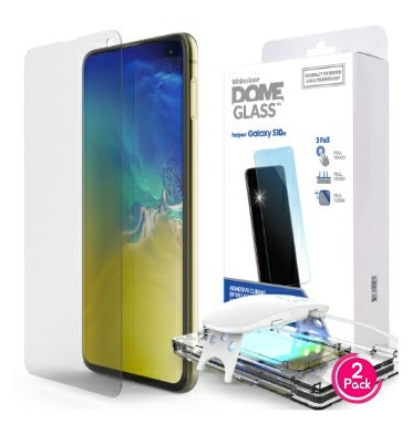 SAMSUNG GALAXY S10E TEMPERED SCREEN PROTECTOR 3D CURVED DOME GLASS 2PK | WHITESTONE