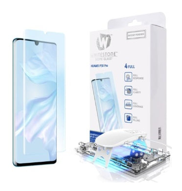 HUAWEI P30 PRO TEMPERED SCREEN PROTECTOR 3D CURVED DOME GLASS | WHITESTONE