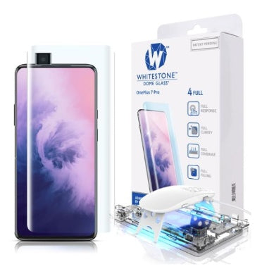 ONEPLUS 7 PRO TEMPERED SCREEN PROTECTOR 3D CURVED DOME GLASS | WHITESTONE