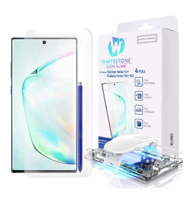 SAMSUNG GALAXY NOTE 10 TEMPERED SCREEN PROTECTOR 3D CURVED DOME GLASS | WHITESTONE
