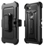 GOOGLE PIXEL 3A XL FULL BODY RUGGED PROTECTIVE CASE WITH SCREEN PROTECTOR BLACK | SUPCASE