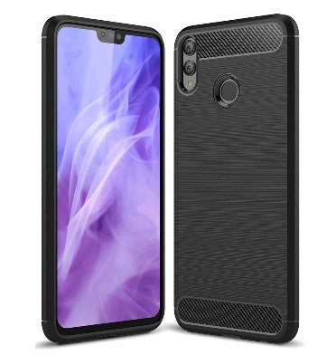 HUAWEI HONOR 8X ULTRA SLIM BRUSHED CARBON FIBRE DESIGN TPU CASE BLACK | AVIDET