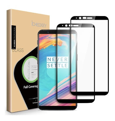 ONEPLUS 5T PREMIUM 3D TEMPERED GLASS SCREEN PROTECTOR BLACK 2PK