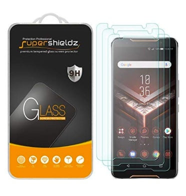 ASUS ROG PHONE PREMIUM TEMPERED GLASS SCREEN PROTECTOR 9H 3PK | SUPERSHIELDZ