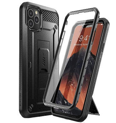 IPHONE 11 PRO MAX FULL BODY RUGGED PROTECTIVE CASE WITH SCREEN PROTECTOR BLACK | SUPCASE