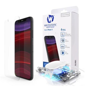 IPHONE 11 TEMPERED SCREEN PROTECTOR 3D CURVED DOME GLASS | WHITESTONE