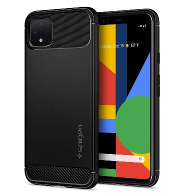 GOOGLE PIXEL 4 XL PREMIUM RUGGED ARMOR CASE BLACK | SPIGEN