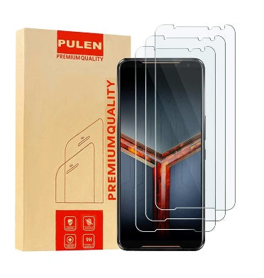 ASUS ROG PHONE 2 PREMIUM TEMPERED GLASS SCREEN PROTECTOR 9H 3PK | PULEN