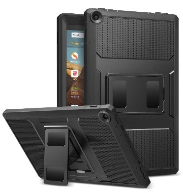 "AMAZON FIRE HD 10"" TABLET (2019) FULL BODY RUGGED PROTECTIVE CASE BLACK 