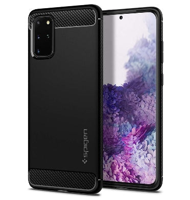 SAMSUNG GALAXY S20+ PREMIUM RUGGED CASE BLACK | SPIGEN