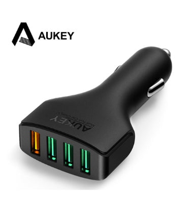 AUKEY 4 PORT 54W USB QUICK CHARGE 3.0 CAR CHARGER