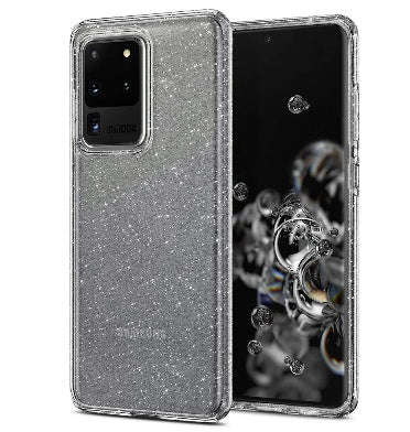 SAMSUNG GALAXY S20 ULTRA PREMIUM SLIM LIQUID CRYSTAL GLITTER CASE CLEAR | SPIGEN