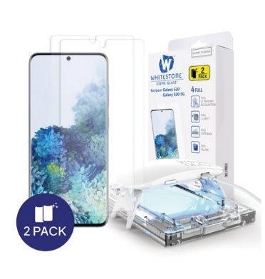 SAMSUNG GALAXY S20 TEMPERED SCREEN PROTECTOR 3D CURVED DOME GLASS 2PK | WHITESTONE