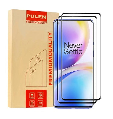 ONEPLUS 8 PRO PREMIUM TEMPERED GLASS SCREEN PROTECTOR BLACK 2PK | PULEN