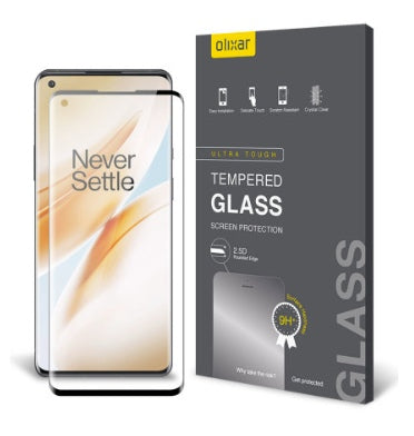 ONEPLUS 8 PRO PREMIUM TEMPERED GLASS SCREEN PROTECTOR | OLIXAR