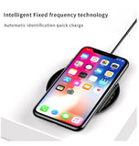 BASEUS QI WIRELESS FAST CHARGER 10W GLASS TRANSPARENT