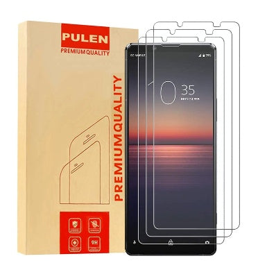 SONY XPERIA 1ii (2020) PREMIUM TEMPERED GLASS SCREEN PROTECTOR 3PK | PULEN
