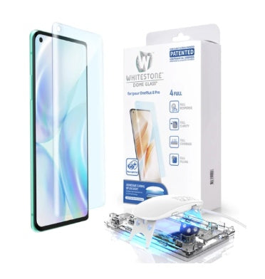 ONEPLUS 8 PRO TEMPERED SCREEN PROTECTOR 3D CURVED DOME GLASS | WHITESTONE