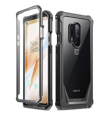 ONEPLUS 8 PRO PREMIUM FULL BODY RUGGED GUARDIAN CASE BLACK | POETIC