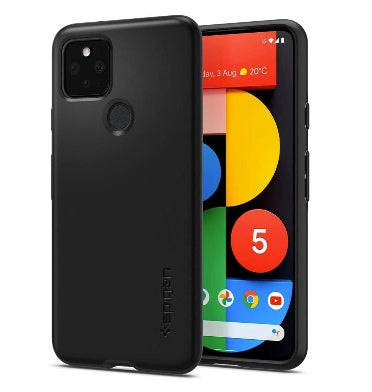 GOOGLE PIXEL 5 PREMIUM SLIM THIN FIT CASE BLACK | SPIGEN
