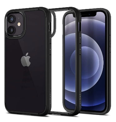 IPHONE 12 MINI PREMIUM SLIM ULTRA HYBRID CASE MATTE BLACK/CLEAR | SPIGEN