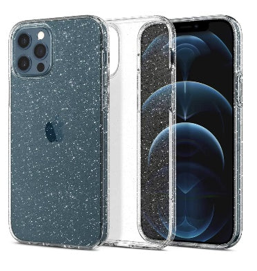 IPHONE 12 PRO PREMIUM SLIM LIQUID CRYSTAL GLITTER CASE CLEAR | SPIGEN