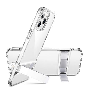 IPHONE 12 PRO MAX PREMIUM SLIM METAL KICKSTAND CASE CLEAR | ESR