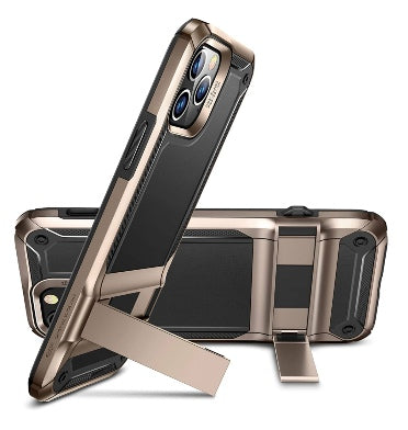 IPHONE 12 PRO PREMIUM SLIM METAL KICKSTAND CASE GOLD/BLACK | ESR
