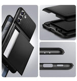 SAMSUNG GALAXY S21+ PREMIUM SLIM ARMOR CARD CASE BLACK | SPIGEN